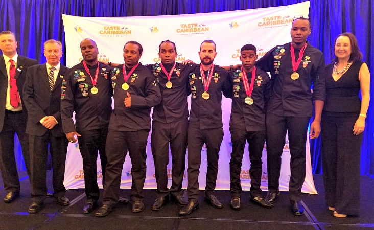 Team Barbados won a silver medal in the Caribbean Team of the Year category. (Photo courtesy Caribbean Hotel & Tourism Association)