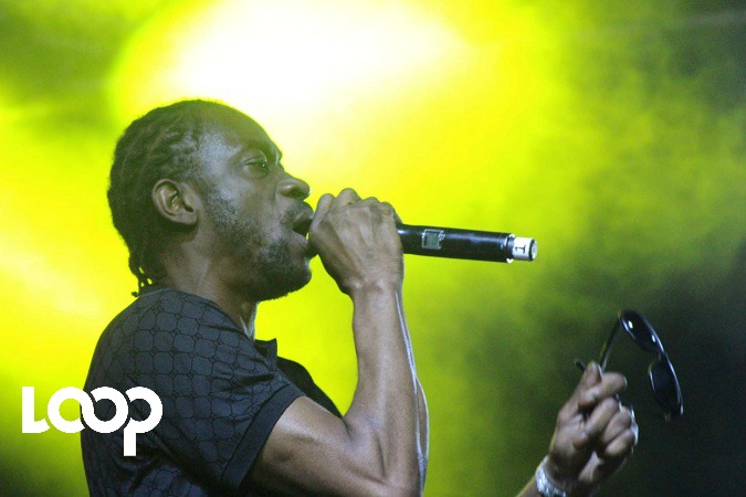 Bounty Killer performs at Trench Town Rock on Saturday