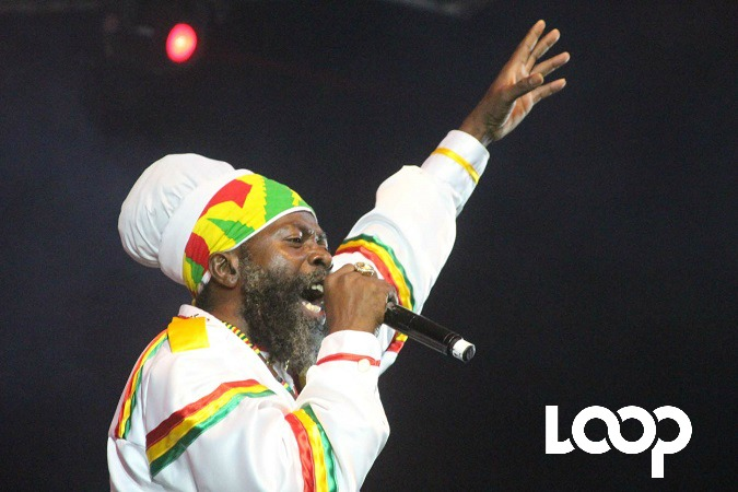 Capleton performs at Trench Town Rock on Saturday