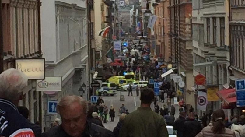 Sweden Attack: Truck Mows Down Pedestrians in Stockholm Three Dead Shots Fired